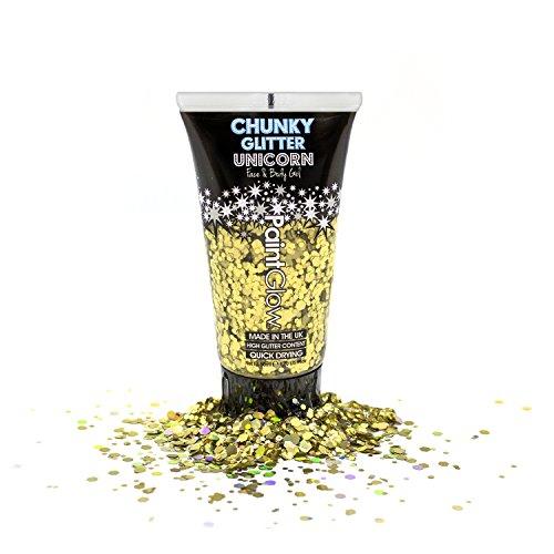 Purpurina de hielo cosmético de 50 ml de espesor para cara, cuerpo y cabello de PaintGlow (Vegan) Glitter corporal Festival