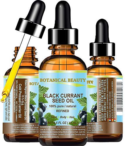 Aceite de semillas de grosella negro 100% puro / natural / sin diluir / refinado con base de aceite portador prensado en frío 15 ml.  Para el cuidado de la piel, el pelo, los labios ES ...