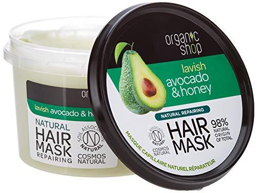 Mascarilla para el cabello con aguacate y miel de la tienda ecológica - 250 ml