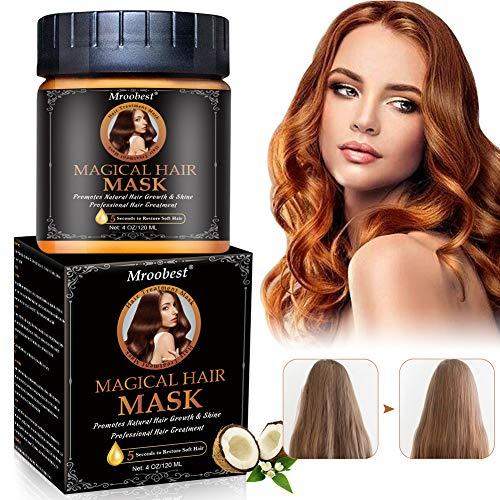 Máscara de cabello, máscara de cabello, máscara de cabello nutritiva treatment tratamiento hidratante del cabello, reparación seca después del daño, 5 segundos para restaurar el cabello ...