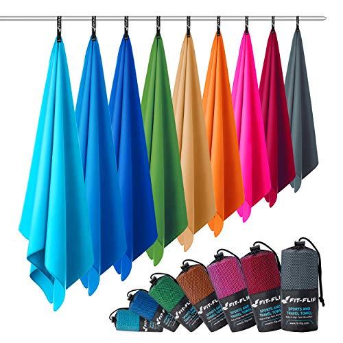 Toallas de microfibra - de todos los tamaños / 12 colores - Toalla deportiva de microfibra - Toalla deportiva de microfibra, toalla de gimnasio de microfibra y toalla de playa de microfibra ...