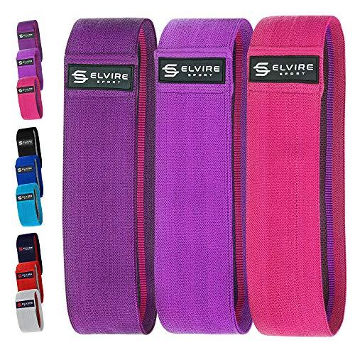 Elvis SPORT Fitness elástico (3 piezas): Cintas elásticas de fitness para nalgas, caderas y piernas    Bandas de resistencia, bandas de fitness para el yoga, Pilates, ...