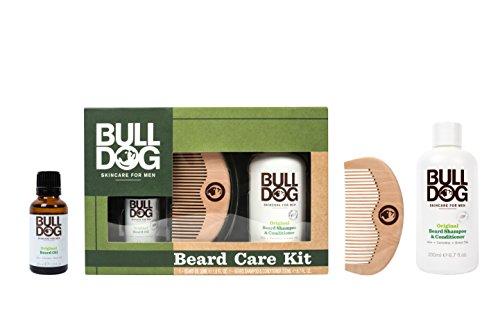 Bulldog Skin Care Beard X301230300 Set - 2 en 1 champú y acondicionador, aceite de barba hidratante y pinta de barba