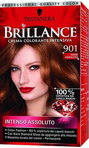 Schwarzkopf, Brillance, Crema de color intensivo permanente, cobre absoluto 901