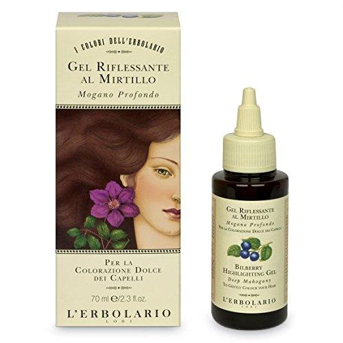 Gel colorante para cabello El Erbolario con arándanos - rojo caoba, 70 ml