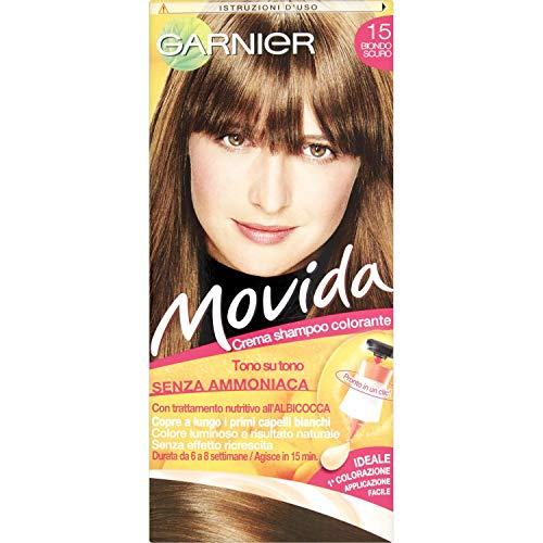 Garnier Movida Color de cabello, crema de color de pelo, Rubia oscuro