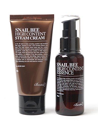 [Benton]    Snail Bee Esencia de alto contenido 60ml + Crema al vapor 50g SET Natural de Benton