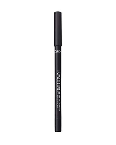 Lápiz de ojos impermeable de larga duración L'Oréal Paris Gel, 01 negro a negro