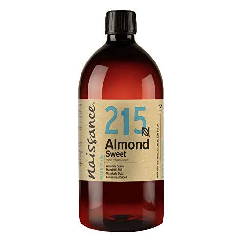 Naissance Natural Sweet Almond 1L - Vegana, libre de transgénicos - Ideal para el cuidado de la piel y el cabello, aromaterapia y como aceite de masaje base