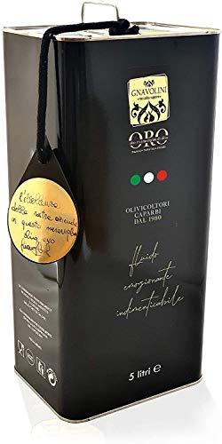 Aceite de oliva virgen extra 100% italiano Colección de sabor de gnavolini extraído en frío |  Lata de 5 litros |  Aceite Evo por excelencia en la cocina.
