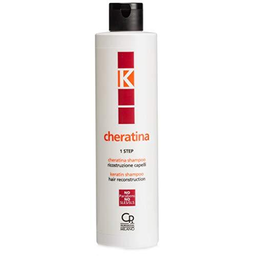 K-queratina - Champú de reconstrucción - Tratamiento profesional con queratina para reestructurar los cabellos dañados - Prepara la piel y repara los daños - 250 ml