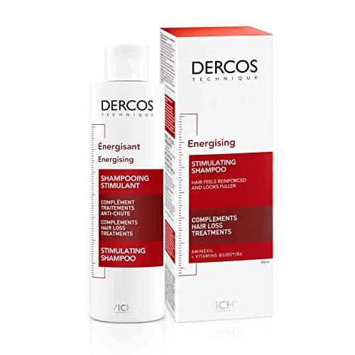 Champú energizante anti-caída del cabello Dercos Vichy, champú Unisex - botella de 200 ml