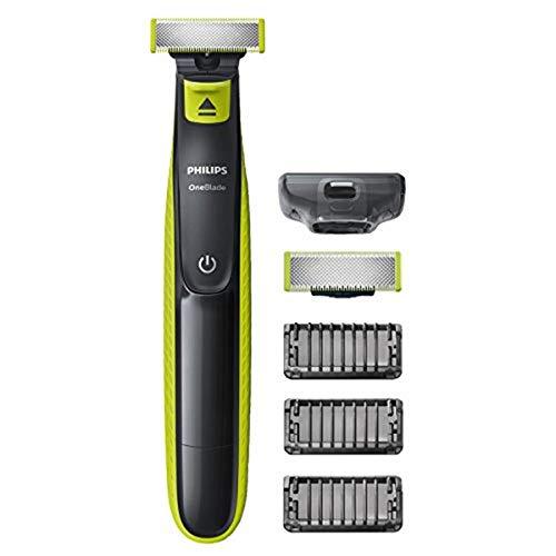 Philips QP2520 / 30 OneBlade Afeita, ajusta y recorta la barba de cualquier longitud, 3 pintas de barba + 1 hoja de recambio