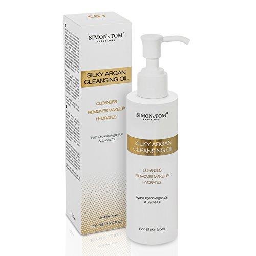 ACEITE DE LIMPIEZA Fórmula exclusiva basada en aceites botánicos SIMON & TOM - Hidrata, elimina las impurezas y maquillaje - Con aceite de argán orgánico y ...