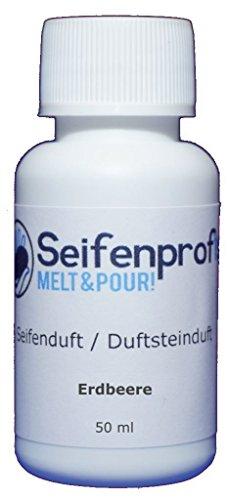 Seifenprofis - Perfume para jabón, aceite perfumado, gran selección para jabones propios, paquete de fresa de 50 ml