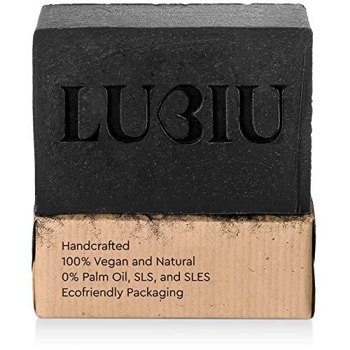 Jabón negro con carbón activado de 113 gramos - Jabón de manos orgánico 100% natural, hecho a mano, vegano y orgánico Perfecto para tratamientos contra el acné (lavado facial ...