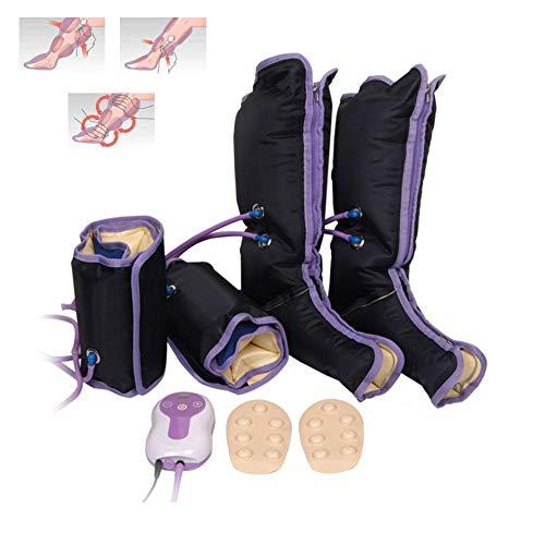 Masaje de piernas por compresión de aire con estimulador electrónico de circulación para terapia de tobillos y tobillos