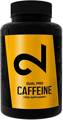 DUAL Pro Caffeine |  100% cafeína pura |  120 cápsulas veganas |  Certificado de laboratorio |  Cápsulas de cafeína |  Dosis elevadas |  Sin aditivos adicionales, veganos y sin ...
