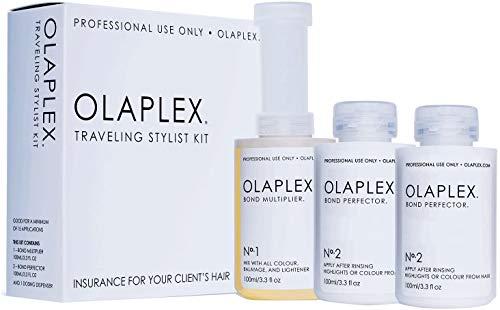 Olaplex Traveling Stylist Kit, Bond Multiplier 1 y Bond Perfector 2, No Box para Cuidado y estilismo del cabello